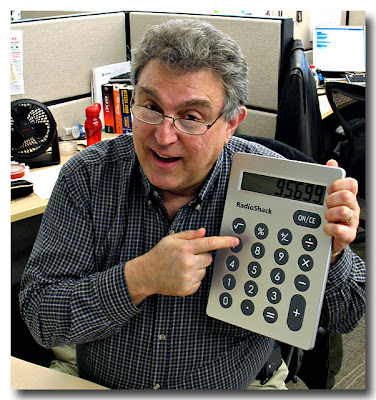 SteveR with Giant Calculator