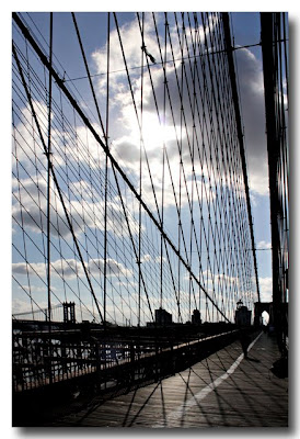 Brooklyn Bridge Backlit NYC