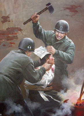 Gay Bomb Nazi Castle: North Korean propaganda posters