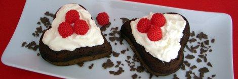 pasteles con forma de corazon