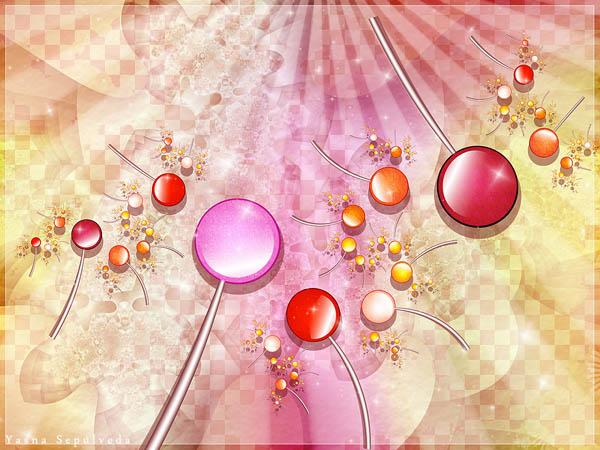 Lollipop fractal art