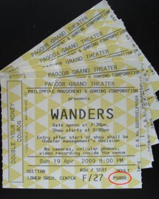 Wanders tickets