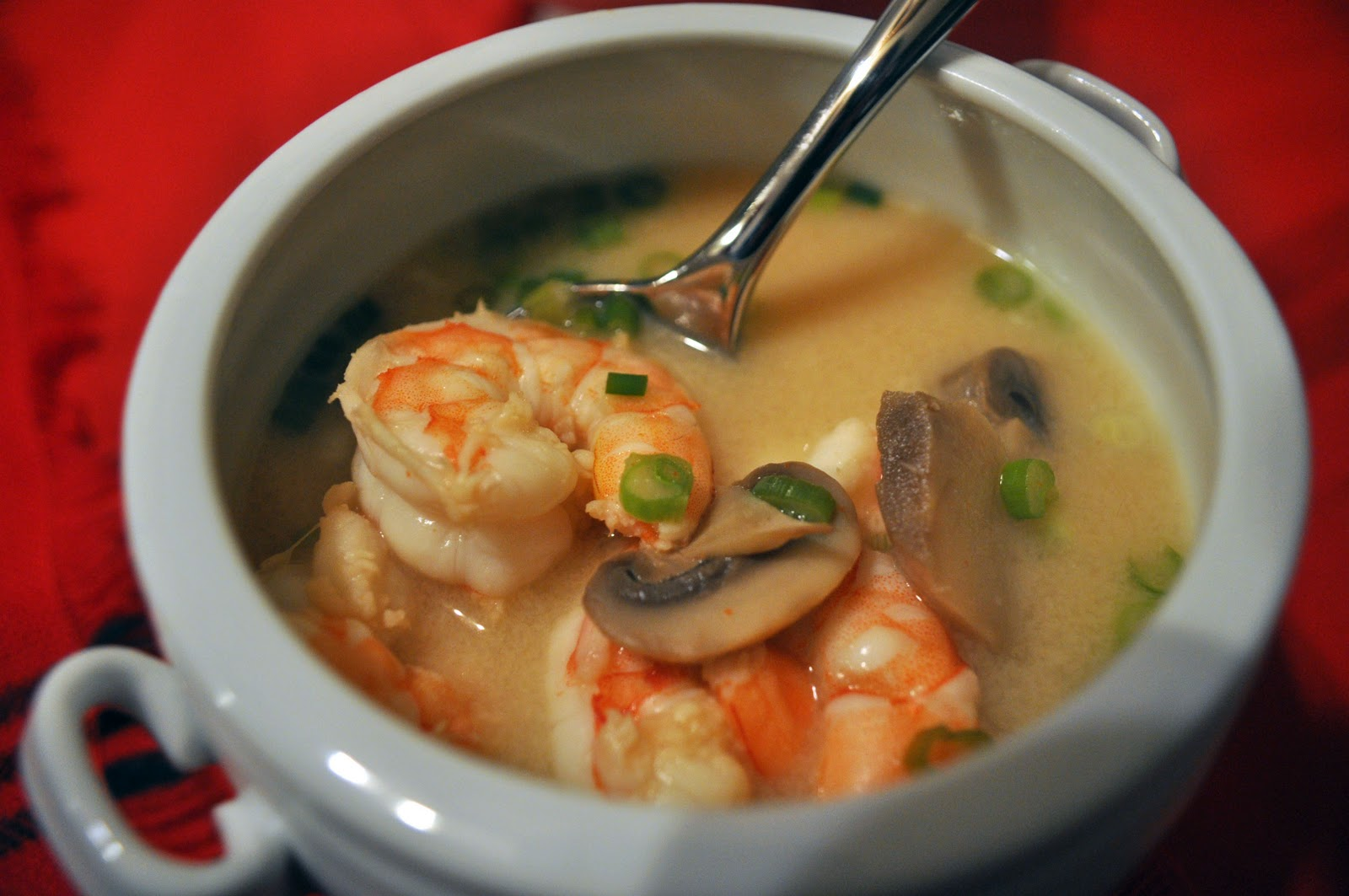 Strike While the Skillet is Hot: Spicy Coconut Shrimp Soup
