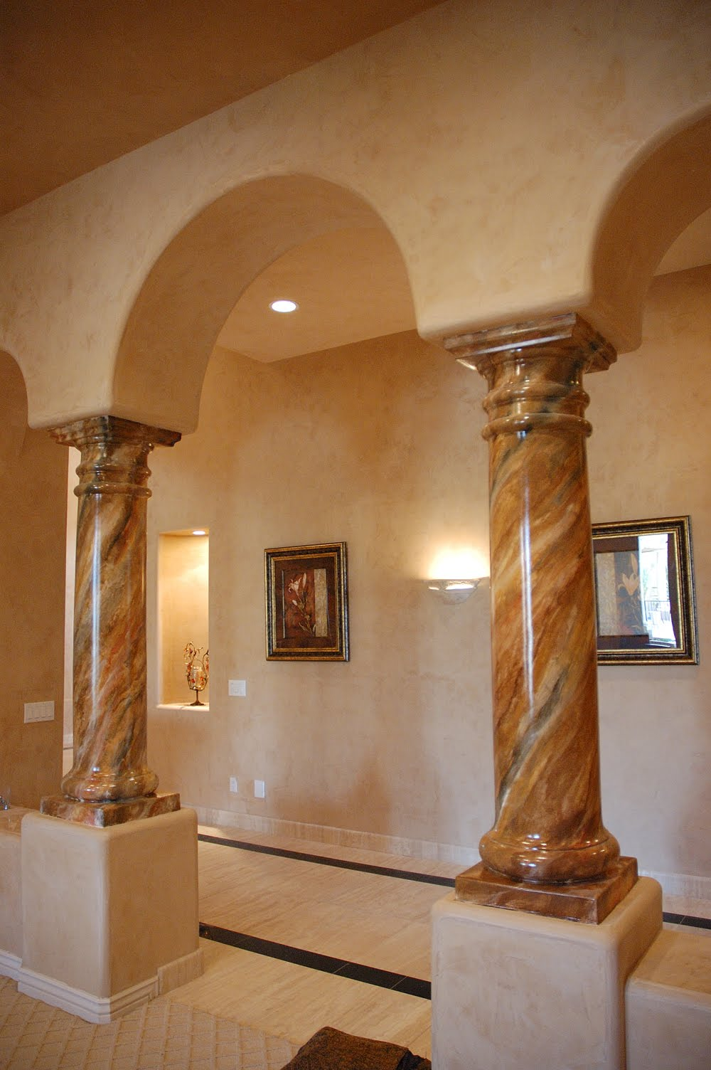 Ivenetian italian plaster training and sales 480 205 0123 for How to paint faux marble wall