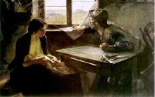 """""""Sin pan y sin trabajo""""  de Ernesto de la Cárcova"""