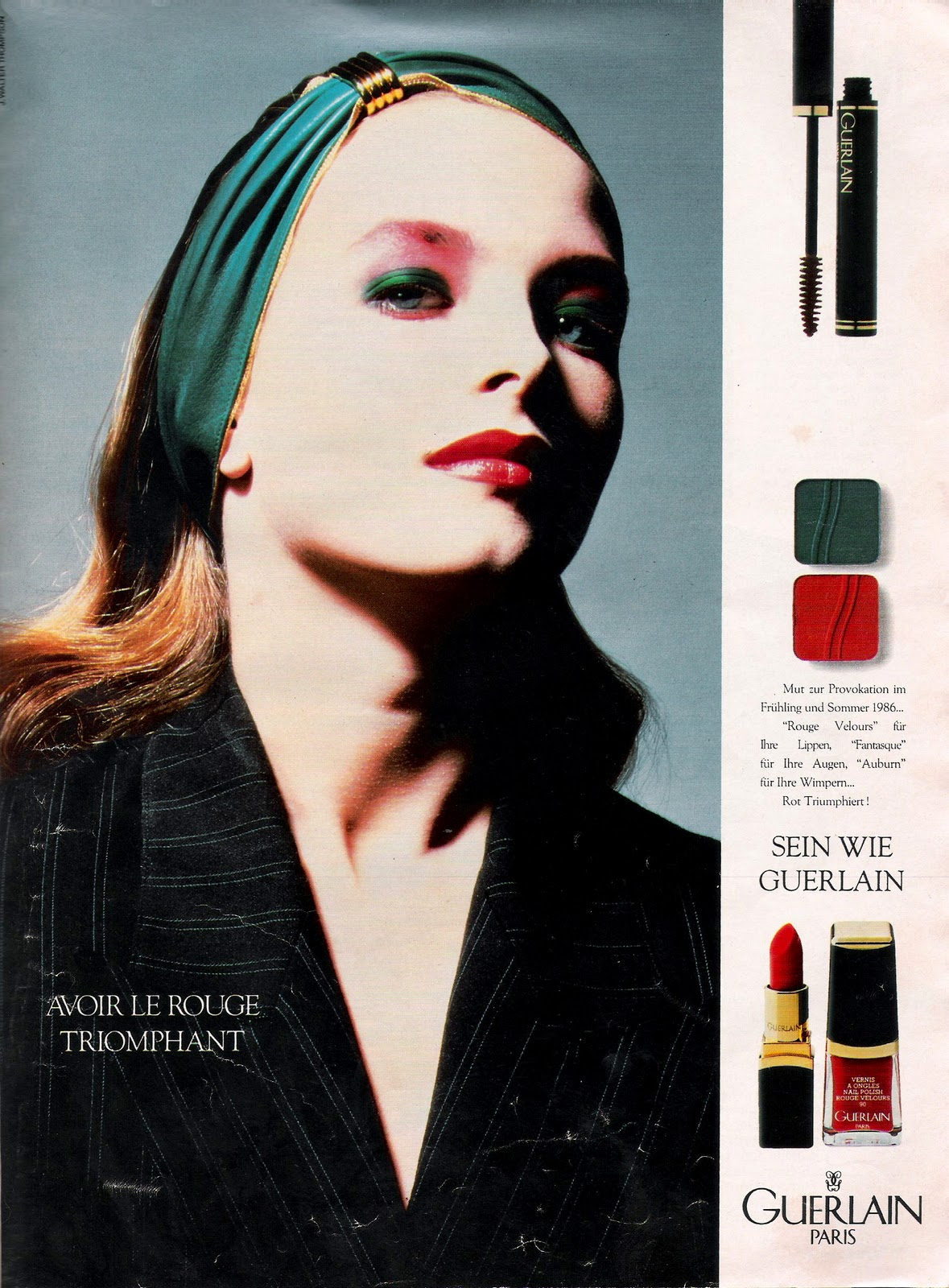 e6b01d842767 First up in this issue we have a Guerlain Paris make-up ad. Then a make-up  spread showcasing cosmetics from Chanel