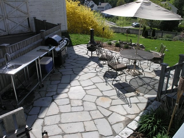 Building A Flagstone Patio : Dover projects how to build a stone patio