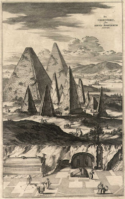 Пирамиды из книги Sphinx Mystagoga Атанасиуса Кирхера