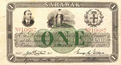 1919 Sarawak Banknotes - $ 1
