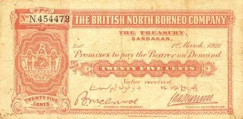 Malaysian Banknotes The British North Borneo Currency