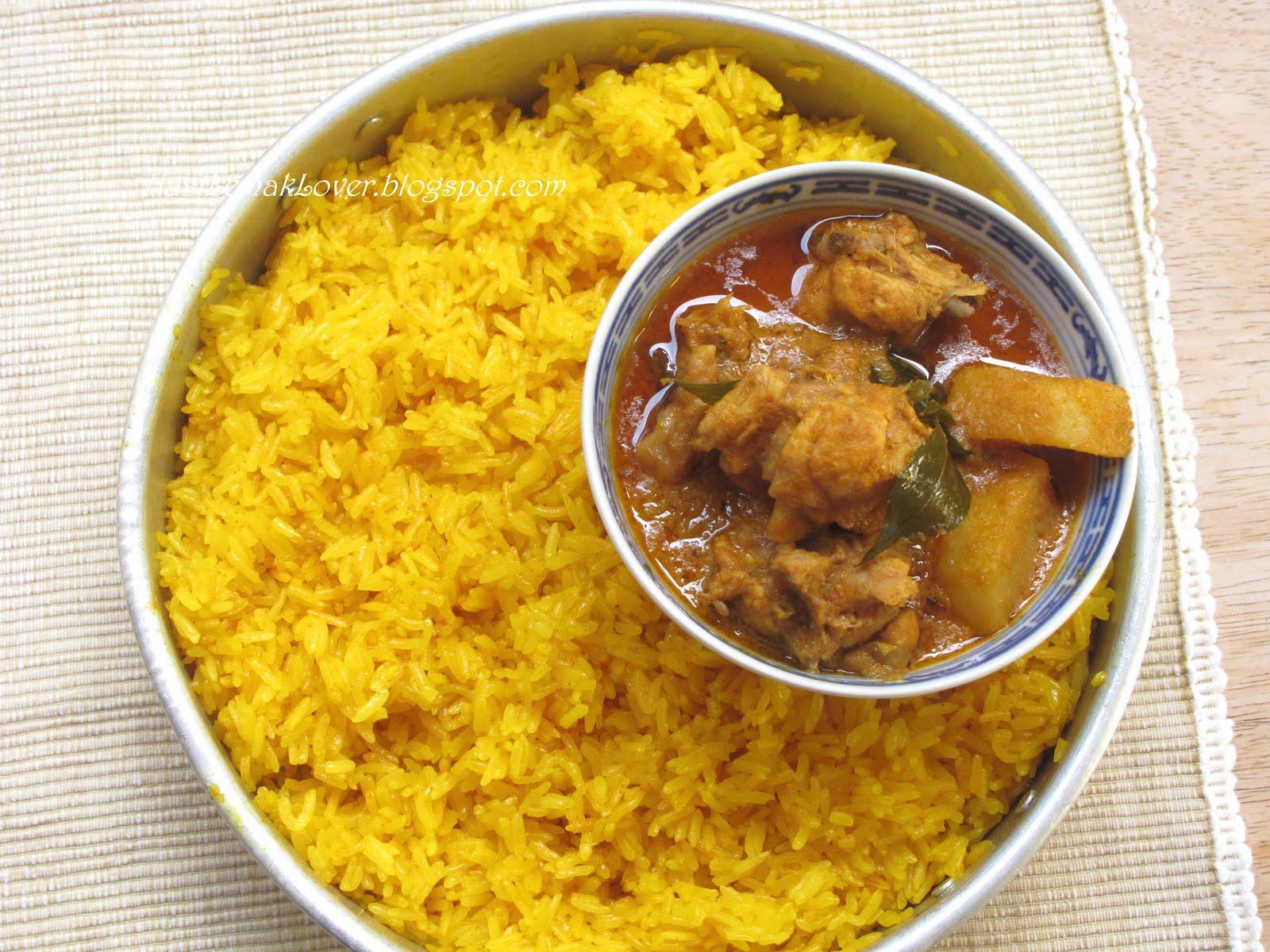 Nasi lemak lover mamak chicken curry with yellow glutinous rice forumfinder Gallery