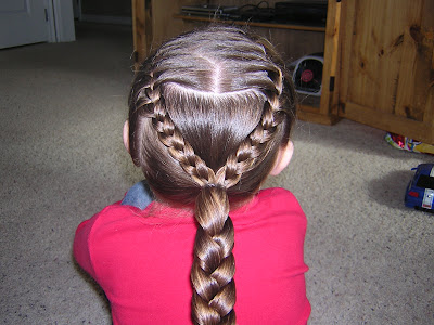 French Braid Broken Heart Hairstyle For Girls