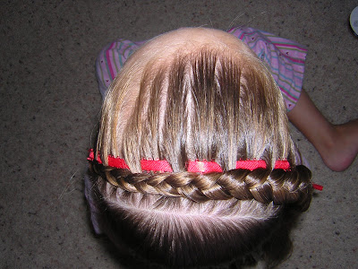 hair styles for girls Repeat the process with your other 2 ribbons.