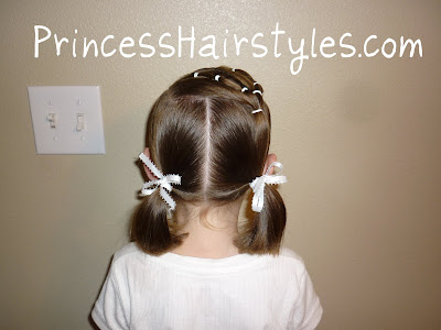 pigtails with bows