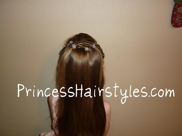 tween twists princess hairstyle