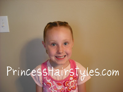 pink hairstyles for girls. That in pink with side swept
