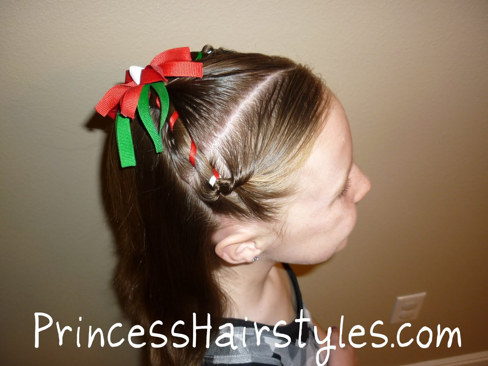 Christmas Hairstyle Easy Hairstyles Girls