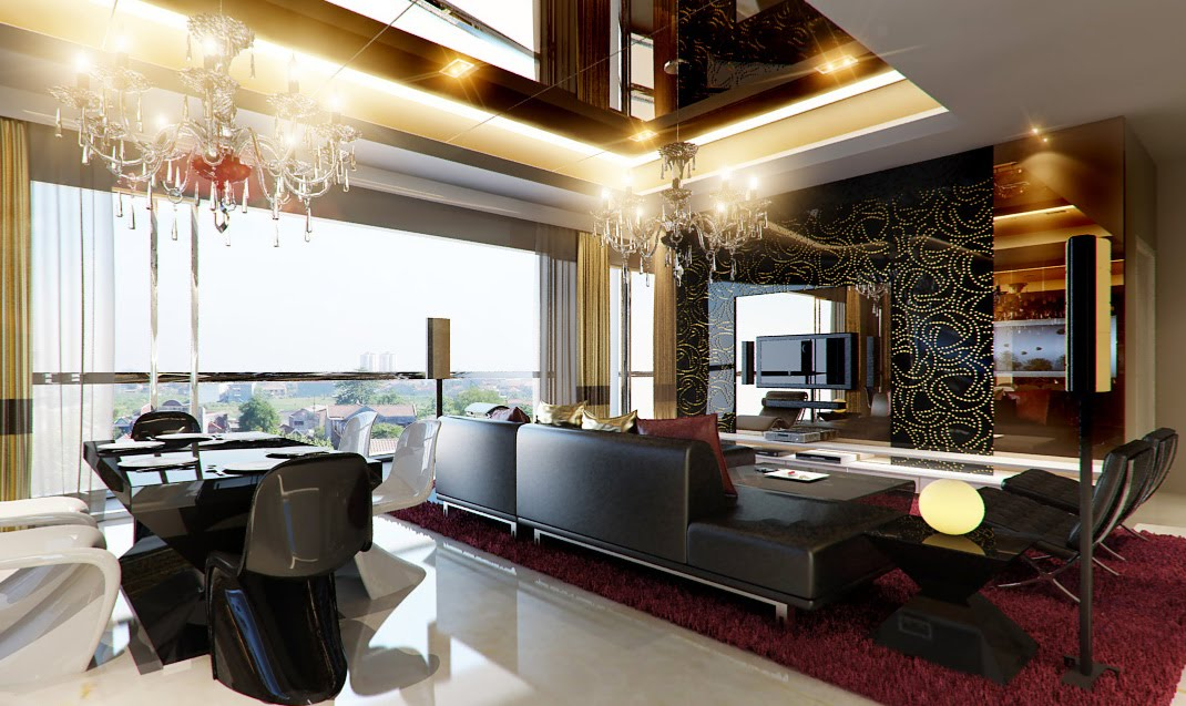 ... interior-design-idea-with-luxury-modern-leather-sofa-design-and-with
