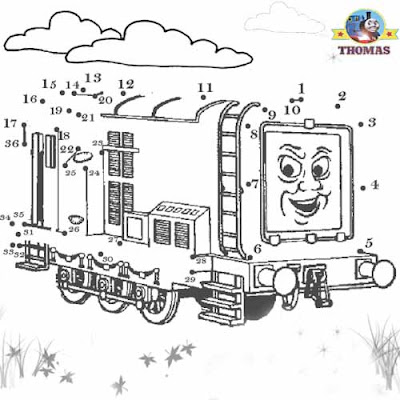 The railway friends devious diesel and Thomas the tank engine games free online dot to dot for kids