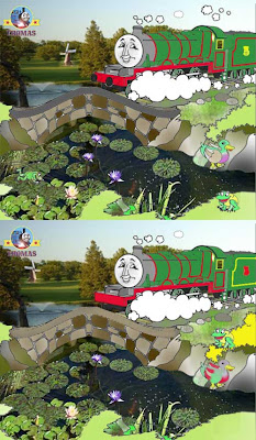 Free spot the difference games for kids Thomas and the tank engine character train Henry tank engine