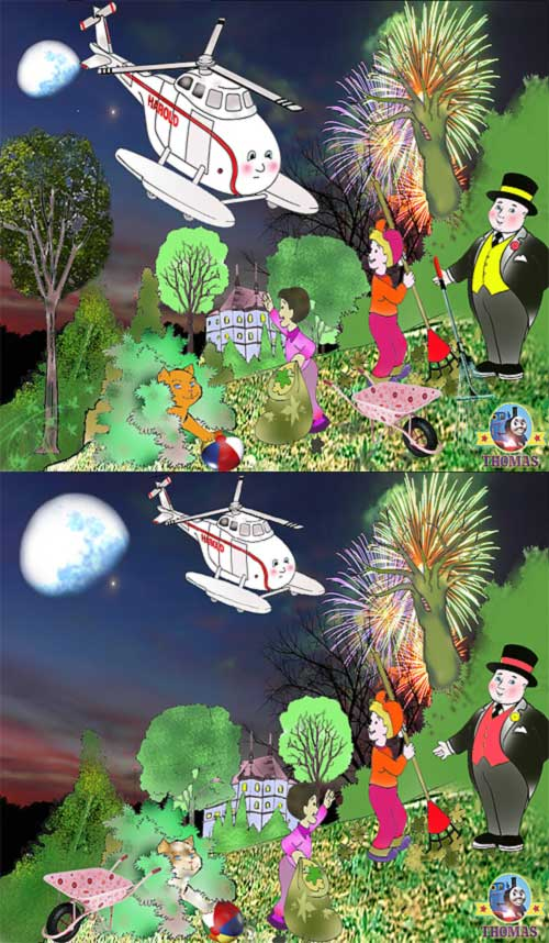Fun Free spot the difference games for kids Thomas and the tank engine ...