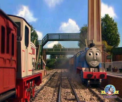 Express Gordon takes a shortcut but the Train Stanley the tank engine was delighted at this news