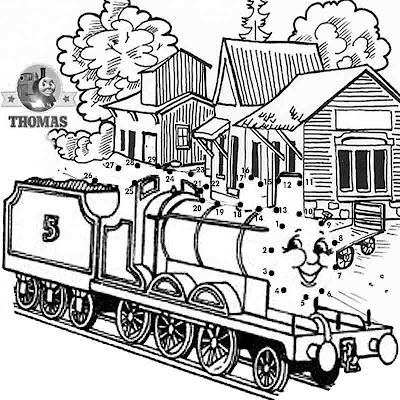 kindergarten dot to dot James train online kids puzzle.