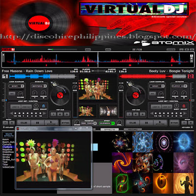 Virtual DJ computer mp3 dj software to live dj with a laptop hooked up to your mixer and amp box