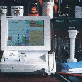 Sharp Electronics UP 3300 disco wine bar epos club system a full colour flat touch screen unit