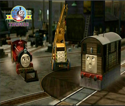 Thomas the tank engine Victor train is the repair manager at the island of Sodor steamworks yard