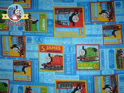 Toy steam Gordon Train Edward blue Thomas Engine covering track fabric handy craft size Fat Quarter