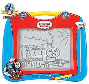 An excellent quality Percy and Thomas Megasketcher toys for making Sodor tank engine pictures