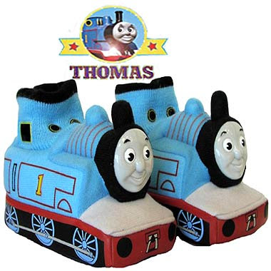 Sodor railways Thomas the Tank Engine kids shoes fashion wear comfortable blue bedroom slippers