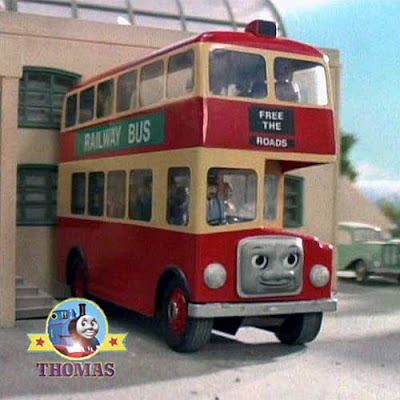 Sodor Island Bulgy the bus gets on well with Thomas Percy and old slow coach Annie and Clarabelle
