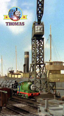 Percy the green engine enjoy working at the seaside Brendan docks with large cranky the crane bugs