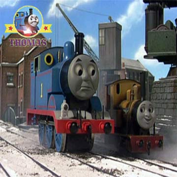 Drive home are the two tank engine Friends Thomas and Duncan train at Sodor railway station house