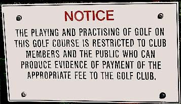 golf sign of the day new golf hotel offers baguio city golf course golfing hotels bars news. Black Bedroom Furniture Sets. Home Design Ideas