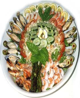 Party food ideas for a sea foods