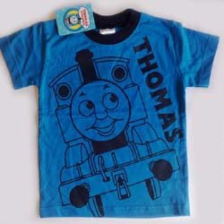 Age 5 boys blue engine thomas t-shirt pic