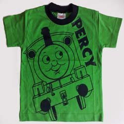 Age 5 Thomas the train and green percy engine thomas t-shirt