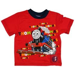 boys thomas red train iv-neck t-shirt