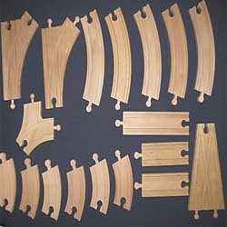 Compatible brio expansion set for Wooden brio thomas track pic