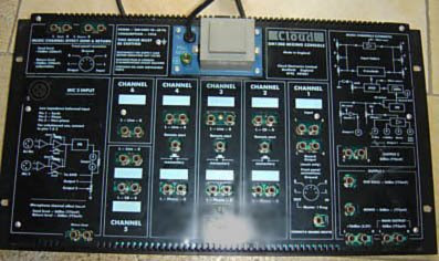 Dj mixer Cloud disco master 1200 back panel pic