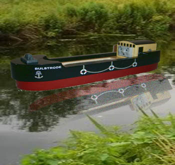 Sodor friends Thomas and Bulstrode the barge on the water ways