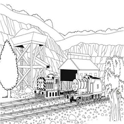Quarry worker Mavis diesel Tank engine James and Thomas tank engine coloring characters