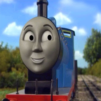 The blue train Edward the very useful engine on Sodor railway