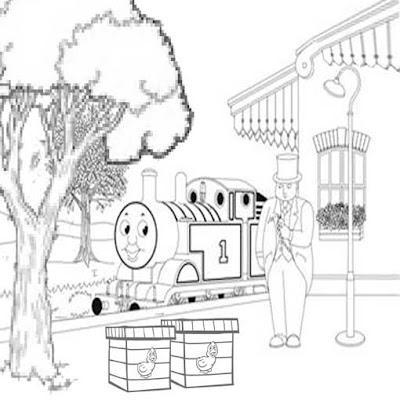 The fat controller Thomas printable coloring sheets