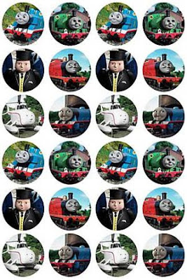 Railway themed kids Birthday party Thomas cake toppers