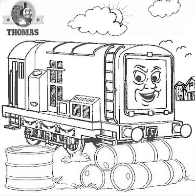 Thomas and friends coloring 4 children Diesel Does It Again