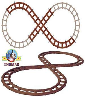 how to set thomas train track